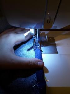 Under produksjon med min nye symaskin
